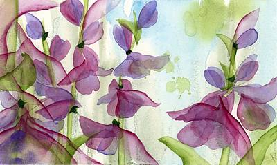 Painting - Penstemon by Dawn Derman