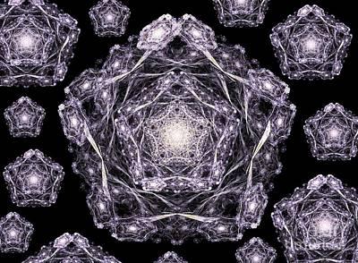 Digital Art - Pentaflakes by Yali Shi