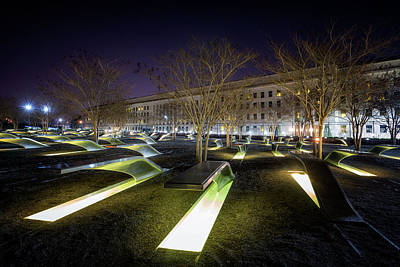 Photograph - Pentagon 9/11 Memorial by Ryan Wyckoff