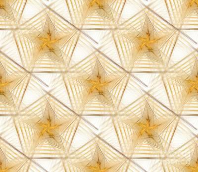 Digital Art - Pentagon Background by Yali Shi