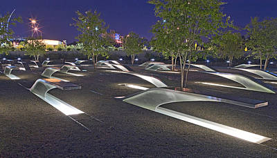 11th Green Photograph - Pentagon Memorial To Those Killed On September 11 2001 by Brendan Reals