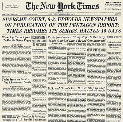 Pentagon Papers, 1971 Art Print by Granger