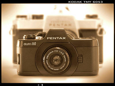 35mm Photograph - Pentax 110 Auto by Mike McGlothlen