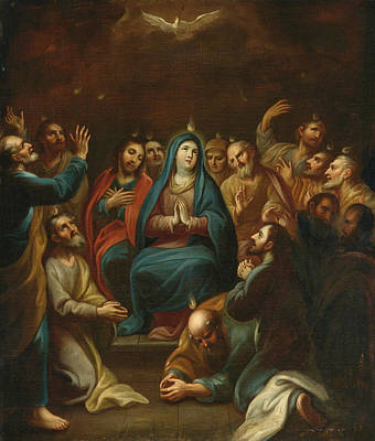 Painting - Pentecost by Miguel Cabrera