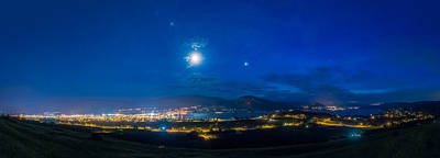 Penticton Night 1 Art Print