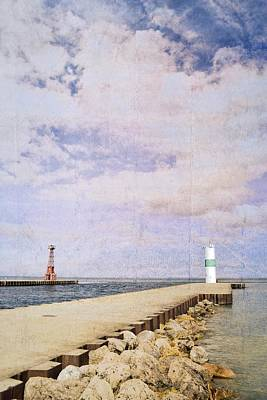 Photograph - Pentwater Pier And Light 2.0 by Michelle Calkins