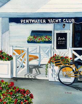 Painting - Pentwater Yacht Club by Carolyn Koup