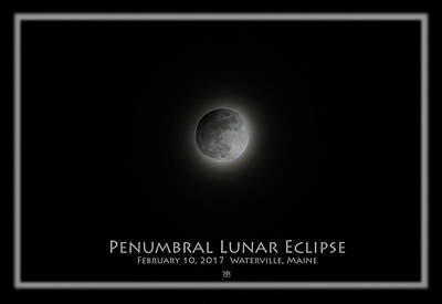 Photograph - Penumbral Lunar Eclipse by John Meader