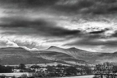 Photograph - Penyfan And Corn Ddu by Steve Purnell