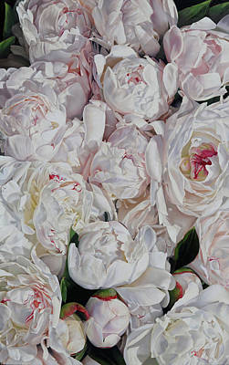 Floral Painting - Peonies 3' X 2' by Thomas Darnell