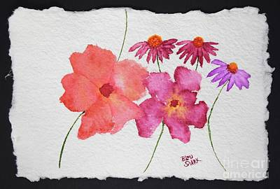 Painting - Peonies And Coneflowers  by Barrie Stark