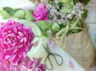 Photograph - Peonies And Lilacs 2 by Rebecca Cozart
