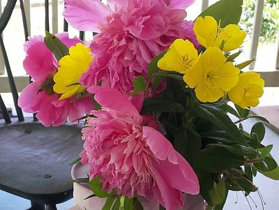 Photograph - Peonies And Primroses by Deb Martin-Webster