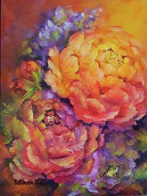 Painting - Peonies At Sunset by Kathleen Pio