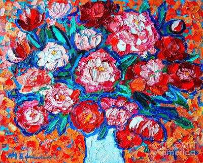 Peonies Bouquet Art Print by Ana Maria Edulescu