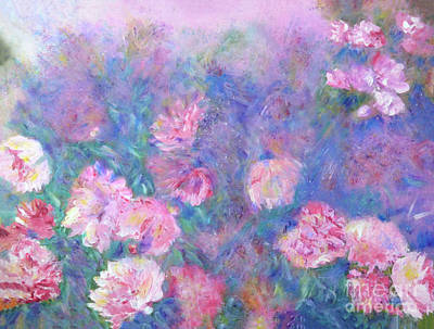 Print featuring the painting Peonies by Claire Bull