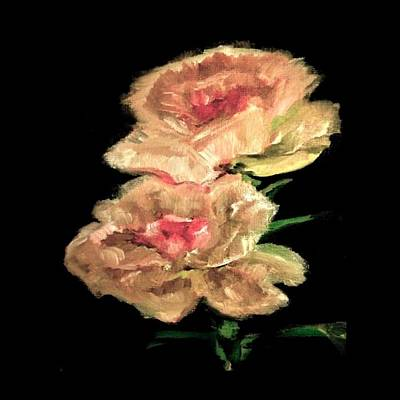 Pollack Painting - Peonies by Clary Pollack