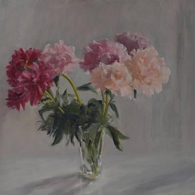 Painting - Peonies by Elena Balekha