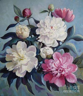 Painting - Peonies by Elena Oleniuc