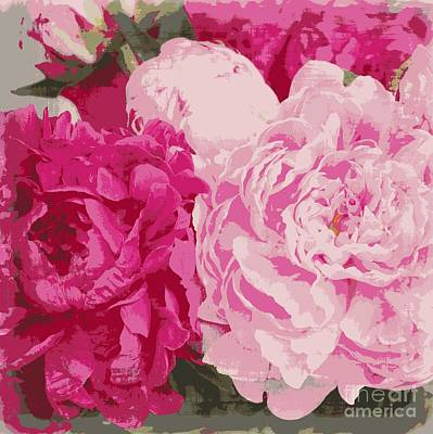 Photograph - Peonies Floral Print by Carol Groenen