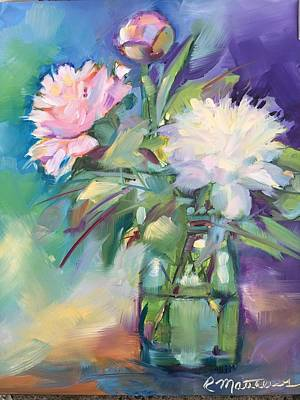 Painting - Peonies In Jar by Rebecca Matthews