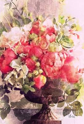 Digital Art - Peonies by Maria Urso