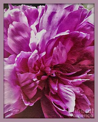 Mixed Media -  Peonies  by MaryLee Parker