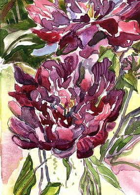 Peonies Original by Mindy Newman