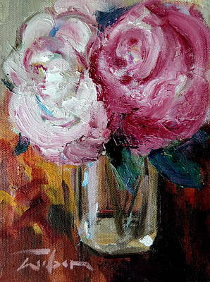 Painting - Peonies by Ron Wilson