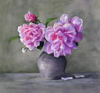 Pastel - Peonies by Vikki Bouffard