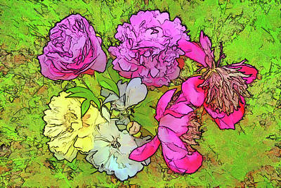 Photograph - Peony Bouquet by Betsy Zimmerli