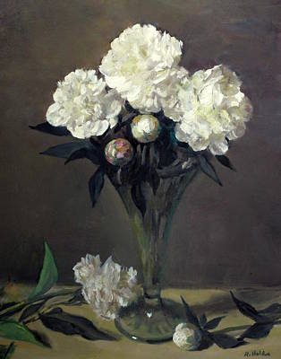 Painting - Peony Buds And Blooms by Robert Holden