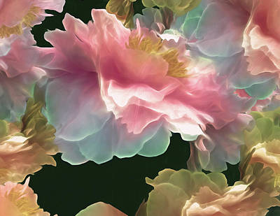 Mixed Media - Peony Cluster 19 by Lynda Lehmann