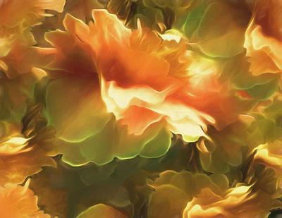 Mixed Media - Peony Cluster 33 by Lynda Lehmann