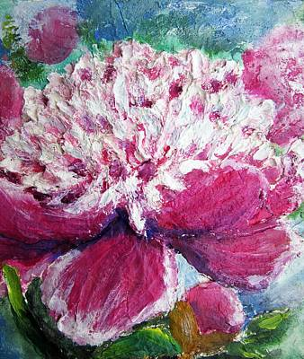 Mixed Media - Peony Detail by Vesna Martinjak