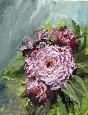 Painting - Peony In Bloom by Michael Helfen