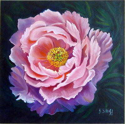 Painting - Peony by Janet Silkoff
