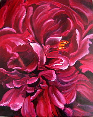Painting - Peony by LaVonne Hand