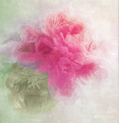 Light Paint Wall Art - Painting - Peony Mist by Mindy Sommers