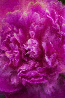 Painting - Peony Paeonia Pink Flower Closeup  by Christina VanGinkel