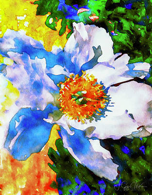 Digital Art - Peony Perfection by Jo-Anne Gazo-McKim