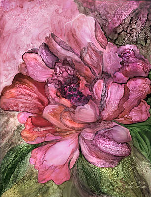 Mixed Media - Peony Pink - Organica by Carol Cavalaris