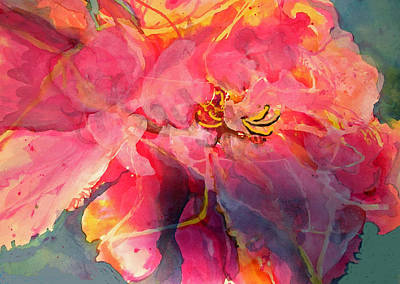 Mary Sonya Conti Painting - Peony Poetry by Mary Sonya  Conti