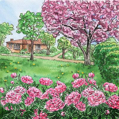 Painting - Peony Season by Irina Sztukowski