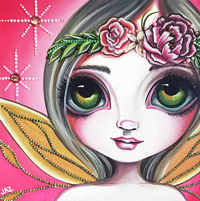 Pop Surrealism Painting - Peony Shimmer by Jaz Higgins