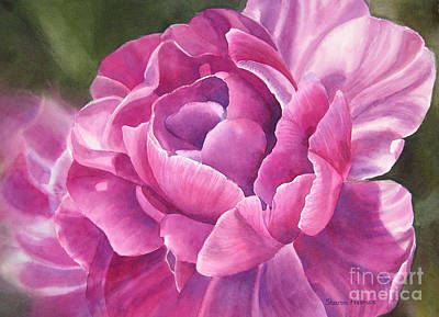 Purple Flowers Painting - Peony Tulip by Sharon Freeman