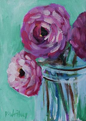 Two Vases Painting - Peony Vase by Kristin Whitney