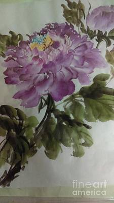 Painting - Peony20170126_1 by Dongling Sun