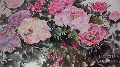 Painting - Peony20170126_2 by Dongling Sun