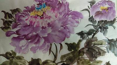 Painting - Peony20170213_1 by Dongling Sun